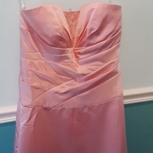 David's Bridal size 14 salmon colored pink dress